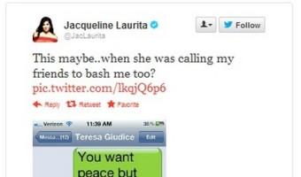 Jacqueline Laurita Tweets Supposedly Threatening Texts Sent to Teresa Giudice