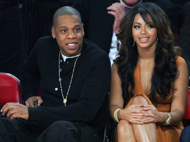 Jay-Z Beyonce courtside