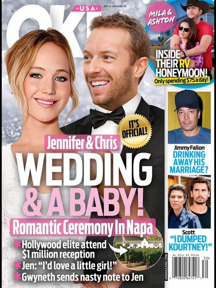 Jennifer Lawrence And Chris Martin Wedding And Baby Plans ...