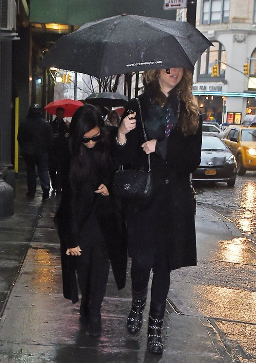 Kim Kardashian Out For Dinner On A Rainy Night In New York City
