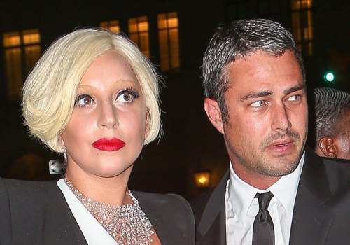 Lady Gaga & Taylor Kinney Leaving Their Apartment