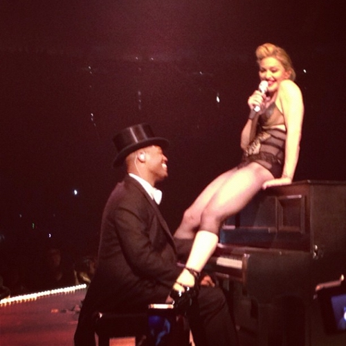 Madonna Peforms with Psy on stage