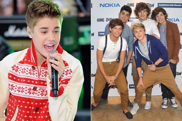 One Direction and Justin Bieber