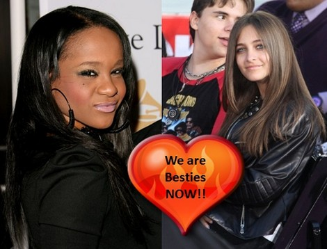 New BFF's Paris Jackson and Bobbi Kristina Brown!