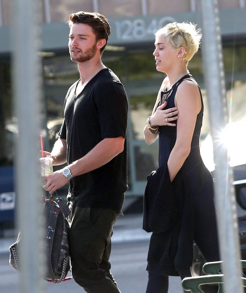 Semi-Exclusive… Miley Cyrus & Patrick Schwarzenegger Stop By Hugo's Tacos