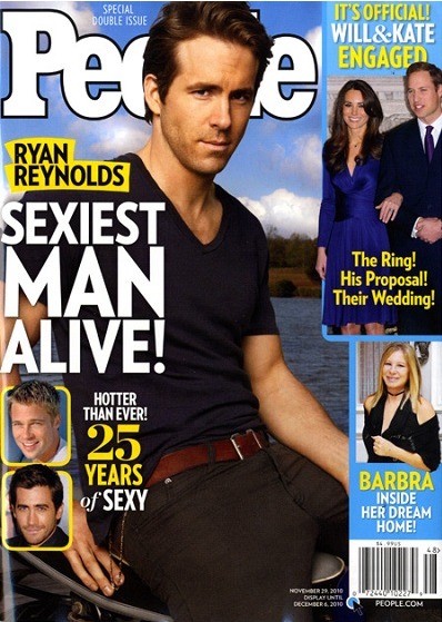 Ryan Reynolds – Sexiest Man Alive 2010