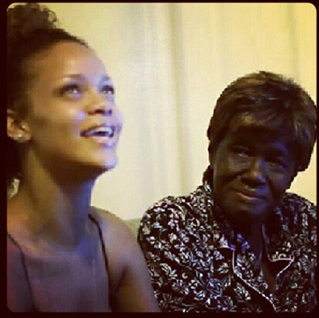 Rihanna and Grandma Dolly