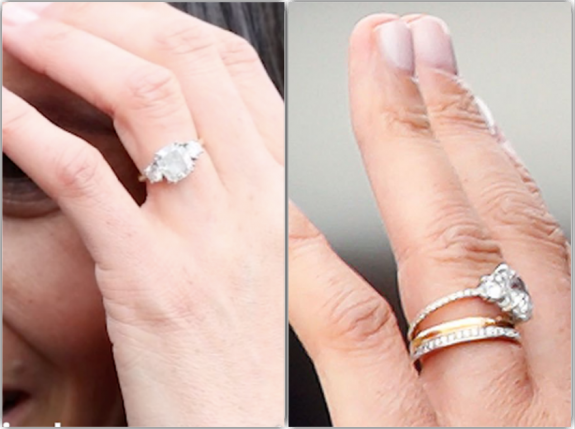 meghan markle engagement ring gets a new look diamonds reset in thinner gold band hollywood hiccups meghan markle engagement ring gets a