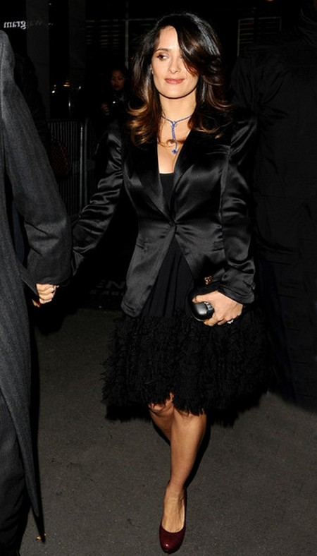 Salma Hayek Is Forced To Dress Up For Her Billionaire Husband