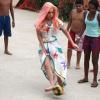 Lady Gaga Plays Football in Rio
