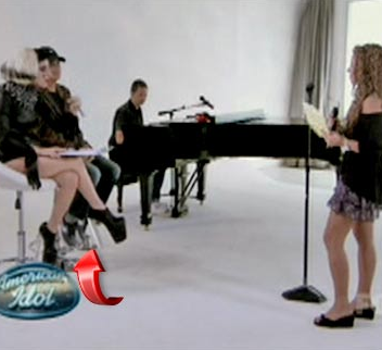 Lady Gaga Penis Shoes on American Idol