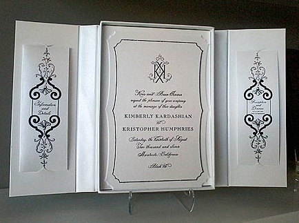 Kim Kardashian and Kris Humphries Wedding Invitation