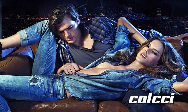 Ashton Kutcher & Alessandra Ambrosio for Colcci