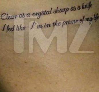 Lindsay Lohan New Tattoo