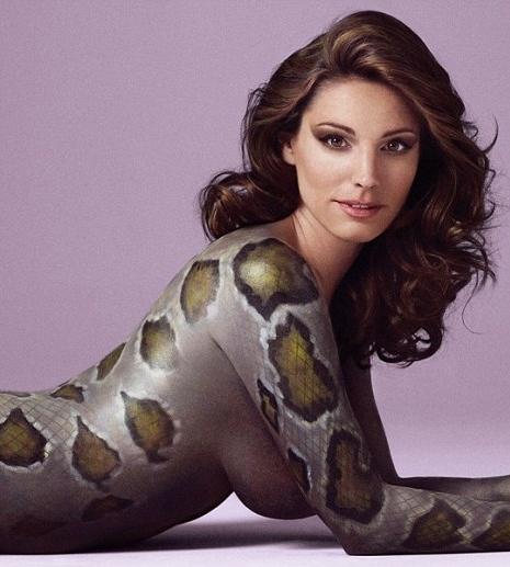 Kelly Brook – Naked Snake Skin For Peta – 1