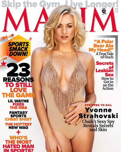 Yvonne Strahovski – Maxim October 2011 – COVER