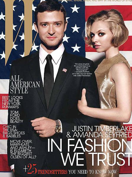 W Magazine – October 2011- Justin Timberlake and Amanda Seyfried – Cover