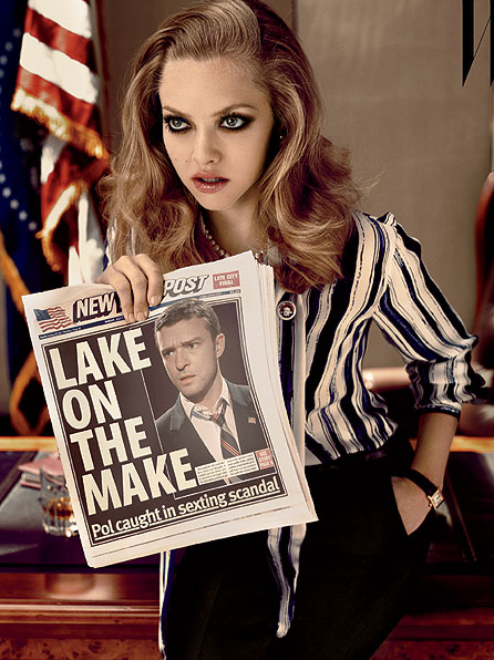 W Magazine – October 2011- Justin Timberlake and Amanda Seyfried – 2