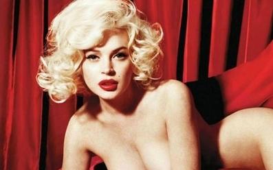 Lindsay Lohan – Playboy – Full Spread Photos – 2