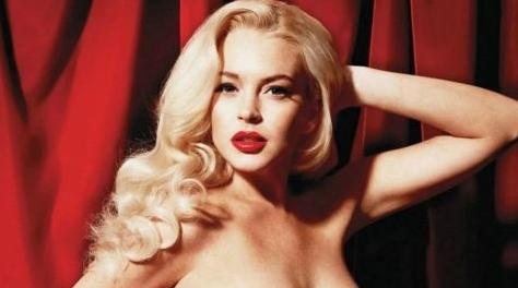 Lindsay Lohan – Playboy – Full Spread Photos – 8