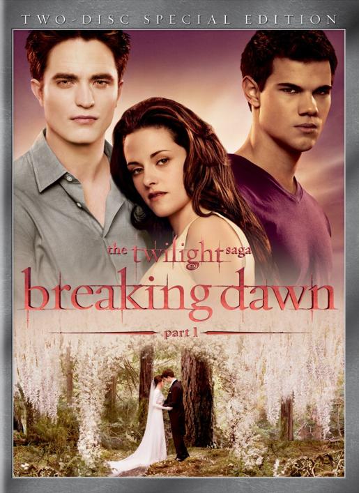 Breaking Dawn Part 1 –  DVD Cover
