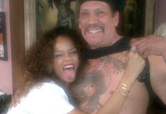 Rihanna and Danny Trejo