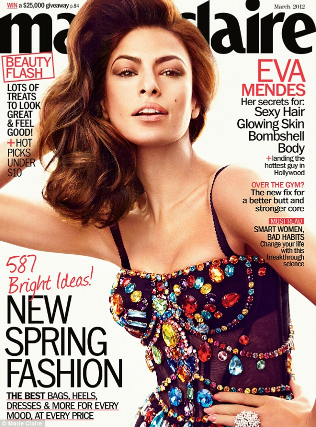 Eva Mendes – Marie Claire 2012 Photos – Cover