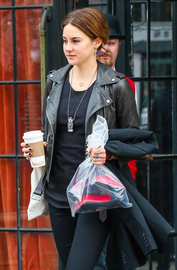 Shailene Woodley Outside The Bowery Hotel
