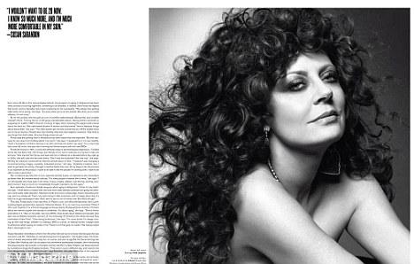 Susan Sarandon V Magazine