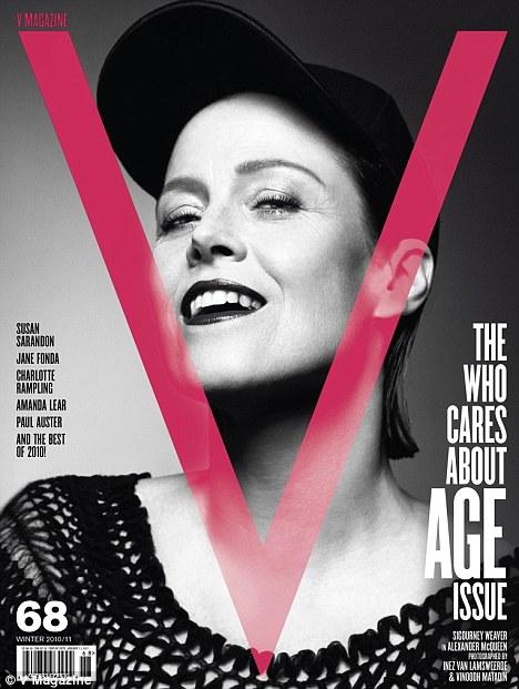 Sigourney Weaver V Magazine