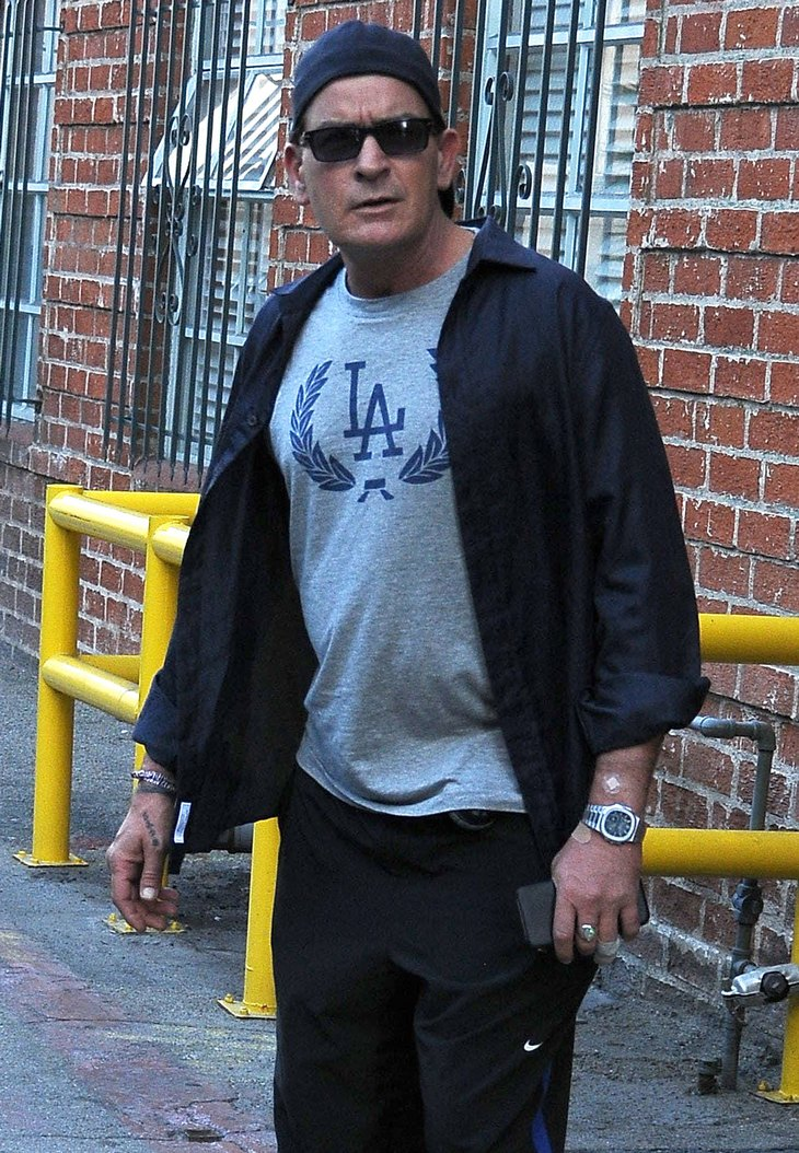 Charlie Sheen Leaving A Medical Building In Beverly Hills