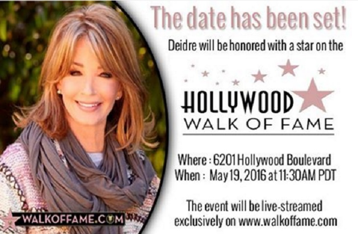 'Days Of Our Lives' News: Deidre Hall To Receive Star On Hollywood Walk Of Fame – Event Will Be Live Streamed