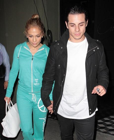 Jennifer Lopez & Casper Smart Dine Out At Craig's