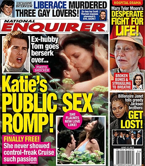 Katie Holmes' Public Sex Romp With Co-Star Infuriates Tom Cruise