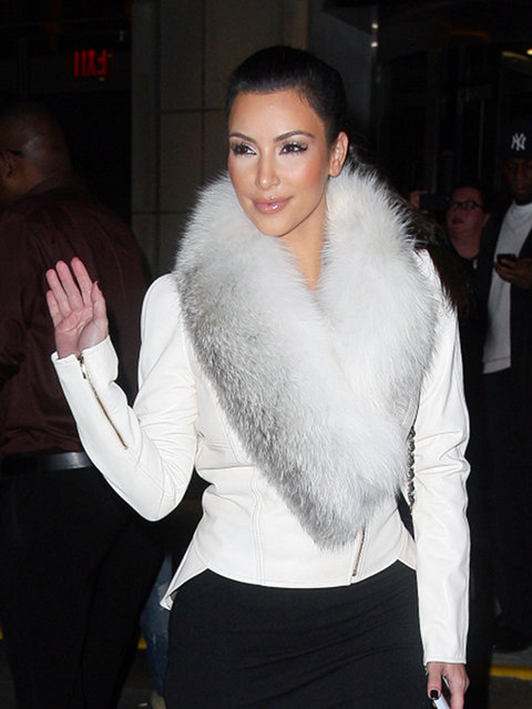 Kim Kardashian Is A Two Faced Animal Hater: Promotes Her Cheap Line Of Faux Fur On Twitter