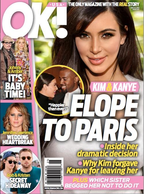 Kim Kardashian & Kanye West Are Eloping In Paris