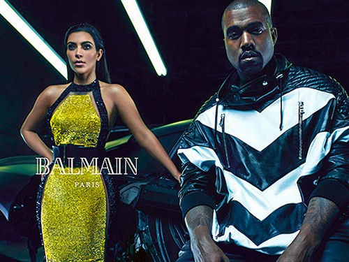 Kim Kardashian And Kanye West: The New Faces Of Balmain