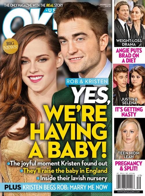 Kristen Stewart & Robert Pattinson Having A Baby - She Begs Him To Marry