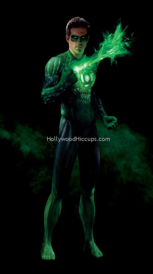Ryan Reynolds FULL CG Suit Green Lantern Photos