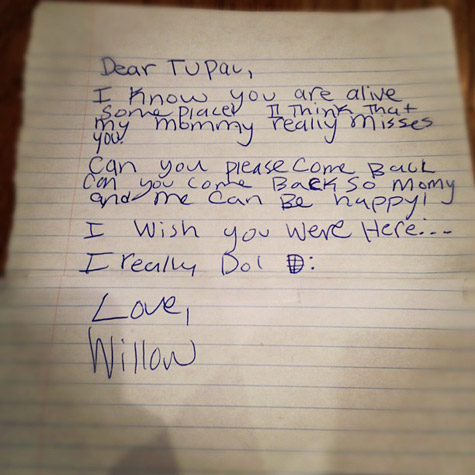 willow smith letter tupac